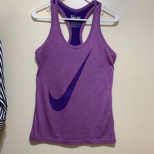 Dri Fit Nike Razor Back Tank Top Purple